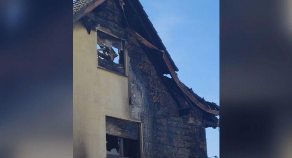 Almanya'da damadına kızdı evini ateşe verd