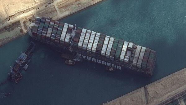 Süveyş Kanalı - The Ever Given - karaya oturan gemi - Sputnik Türkiye