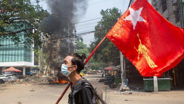 Myanmar - darbe - protesto - Sputnik Türkiye