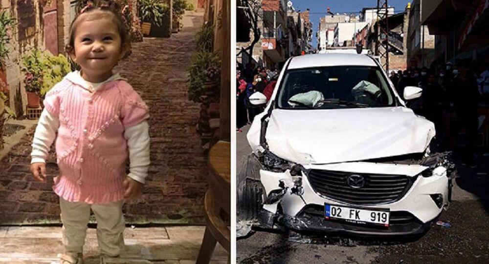Sokakta oyun oynarken otomobilin çarptığı Ayşe Naz