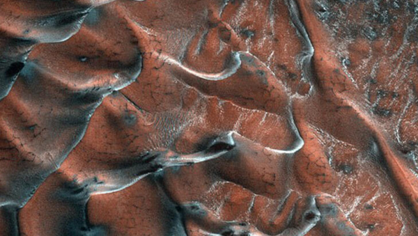 Mars'ın buzlu kum tepeleri - Sputnik Türkiye