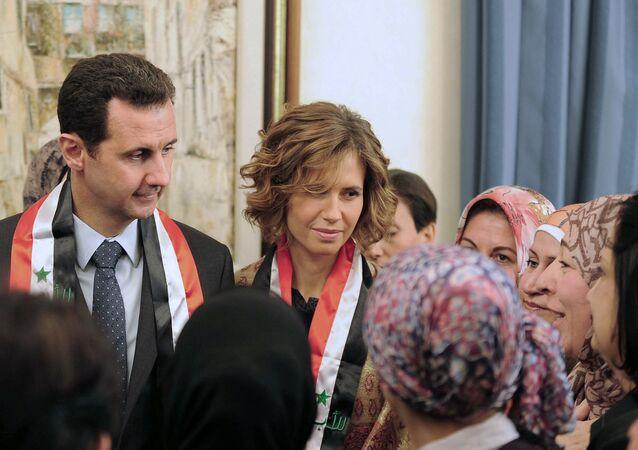 Beşar Esad ile eşi Esma Esad'ın P