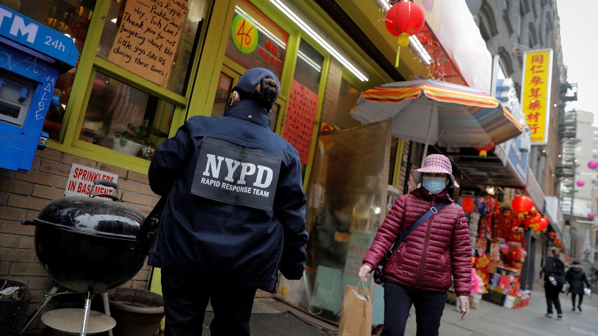 New York'ta sokak ortasında Asyalı kadına saldırı - Sputnik Türkiye, 1920, 12.08.2021