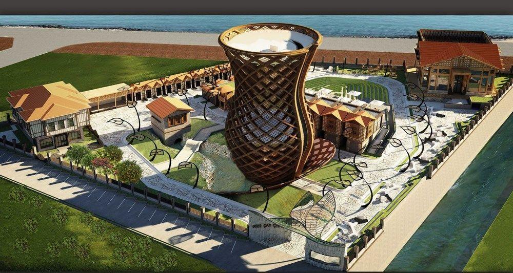 7 katlı çay bardağı anıtının içerisinde çay müzesi, çayın topraktan bardağa serüvenini anlatan 13D çay sineması ve seyir terası yer alacak. Dünyanın en büyük çay bardağı olacağı belirtilen anıt için Guinness Rekorlar Kitabı'na başvurulacak.
