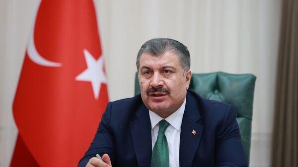 Sağlık Bakanı Fahrettin Koca, video konferans yöntemiyle düzenlenen Koronavirüs Bilim Kurulu toplantısına başkanlık etti. - Sputnik Türkiye