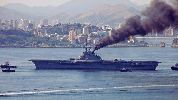 Brezilya Donanması'na ait NAe São Paulo - Sputnik Türkiye