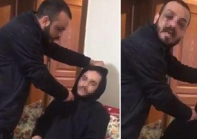 Sevgilisinin arkadaşının boğazına bıçak dayadı