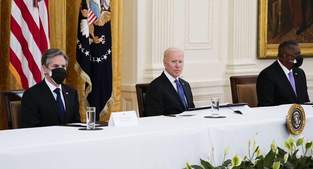 ABD Başkanı Joe Biden, ABD Dışişleri Bakanı Antony Blinken, ABD Savunma Bakanı Lloyd Austin