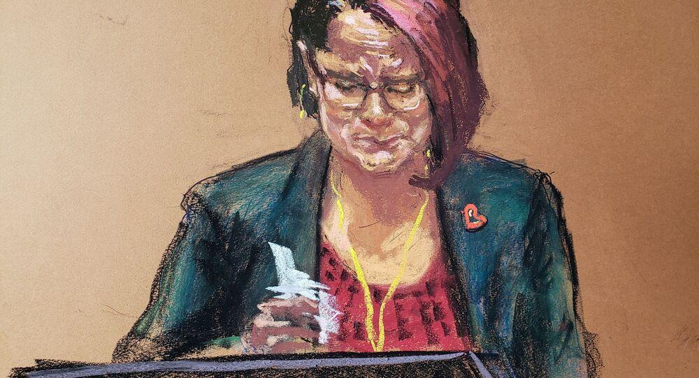 Mahkeme çizimiyle George Floyd davasında kız arkadaşı Courteney Ross ağlayarak soruları yanıtlarken