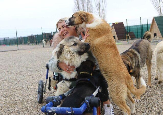 engelli hayvanlar için barınak kuran Buket Özgünlü, Ankara