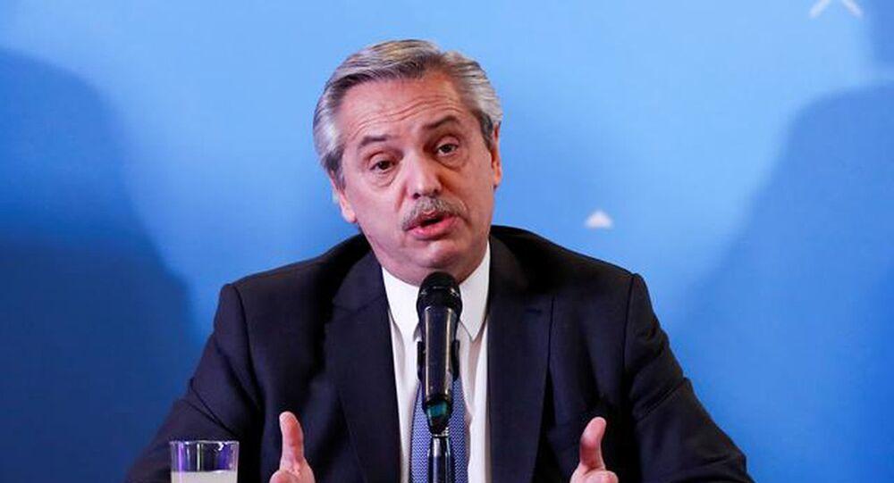 Arjantin Devlet Başkanı Alberto Fernandez