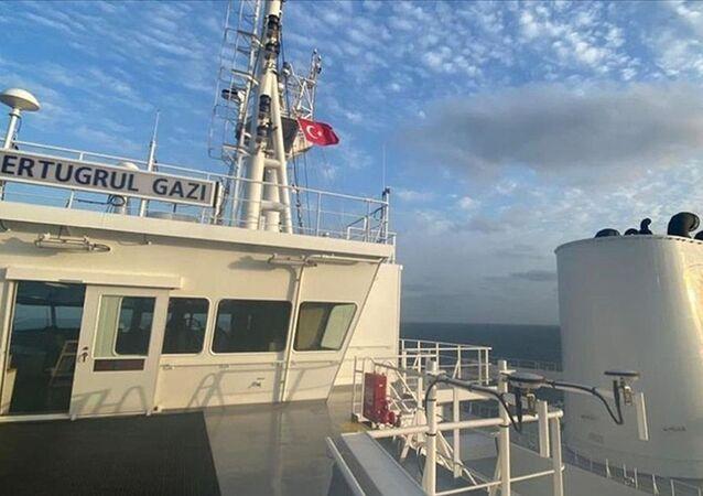 Türkiye'nin ilk yüzer LNG depolama ve gazlaştırma gemisi (FSRU) Ertuğrul Gazi