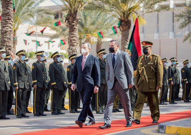 İtalya Başbakanı Draghi -  Libya Başbakanı Dibeyb