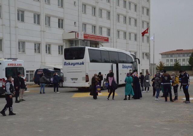 Karaman'da pozitif çıkan yolcu nedeniyle karantinaya alınan otobüs
