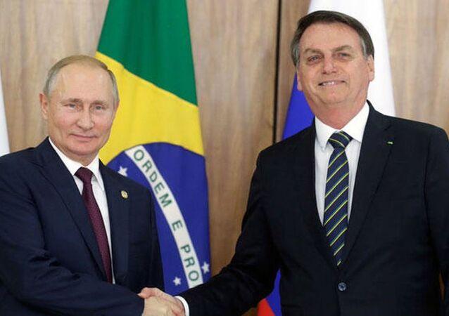 Rusya Devlet Başkanı Vladimir Putin ve Brezilyalı mevkidaşı Jair Bolsonaro
