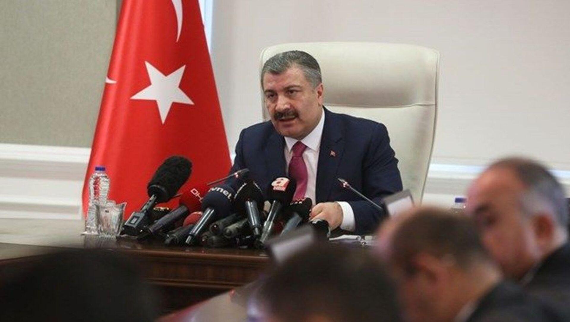 Sağlık Bakanı Fahrettin Koca, Bilim Kurulu toplantısı - Sputnik Türkiye, 1920, 12.04.2021