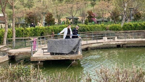 Gaziantep'te, parktaki süs havuzuna giren işitme engelli Halil İbrahim Yıldız (9) boğuldu. - Sputnik Türkiye