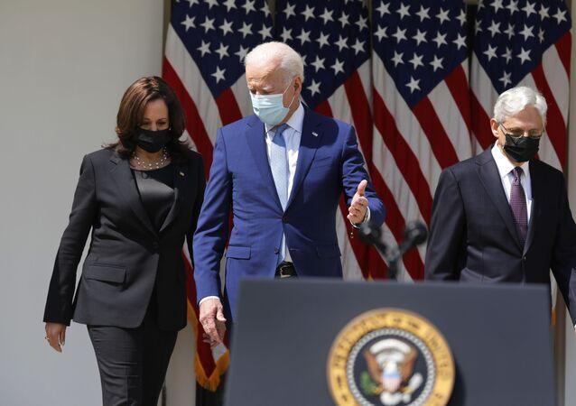 ABD Başkanı Joe Biden ve yardımcısı Kamala Harris