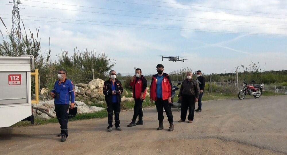 Mersin'de dron edestekli arama