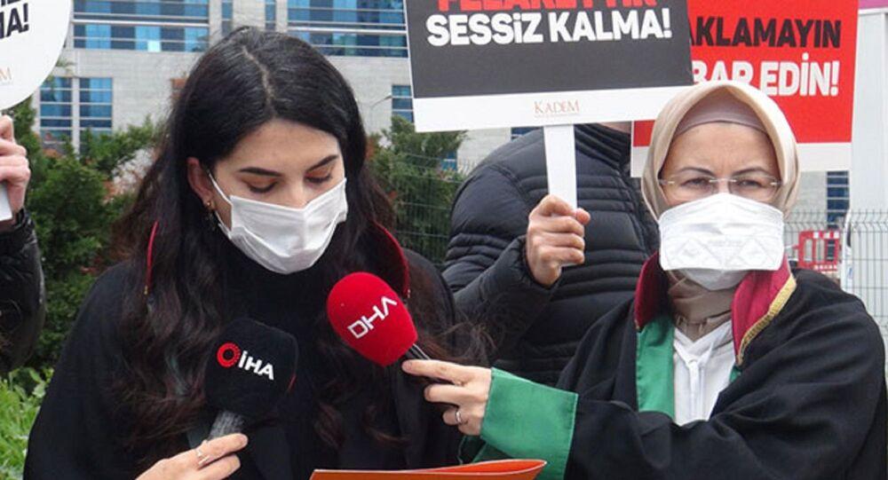 Kadın ve Demokrasi Derneği (KADEM) adına açıklama yapan Avukat Berivan Koca