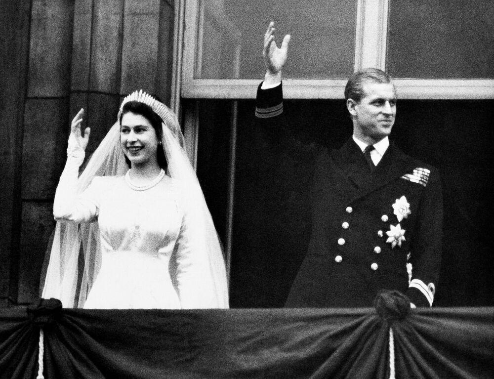 Westminster Katedrali'nde yapılan düğüne, 2 bin 500 davetli katıldı.  Londra, 1947