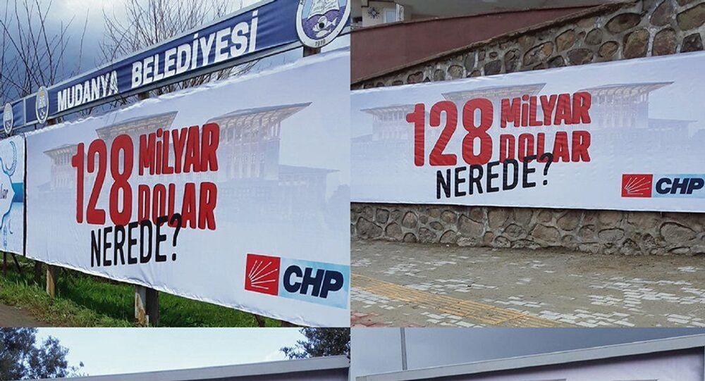 Bursa'nın Mudanya ilçesinde reklam panolarına verilen ilanlarla ilgili 'Cumhurbaşkanına hakaret' suçundan soruşturma başlatıldığı bildirildi.