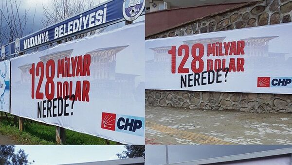 Bursa'nın Mudanya ilçesinde reklam panolarına verilen ilanlarla ilgili 'Cumhurbaşkanına hakaret' suçundan soruşturma başlatıldığı bildirildi. - Sputnik Türkiye