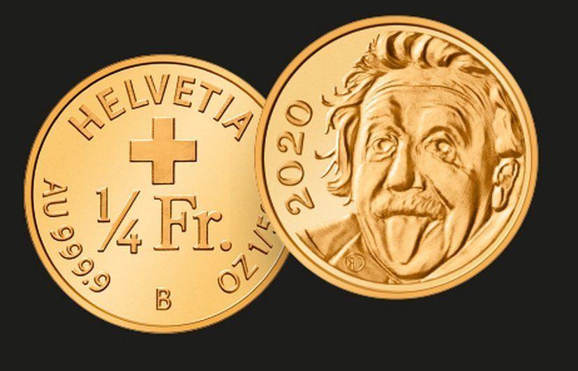 İsviçre'nin ürettiği 'Einstein'lı hatıra parası', Guinnes Rekorlar Kitabı'nda