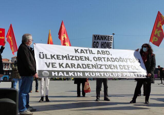 Dolmabahçe'de HKP'den ABD protestosu
