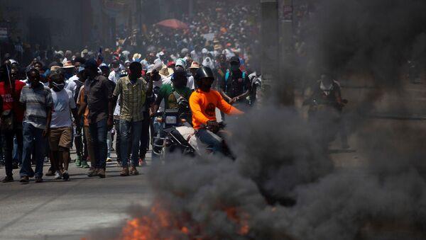 Haiti - protesto - Sputnik Türkiye