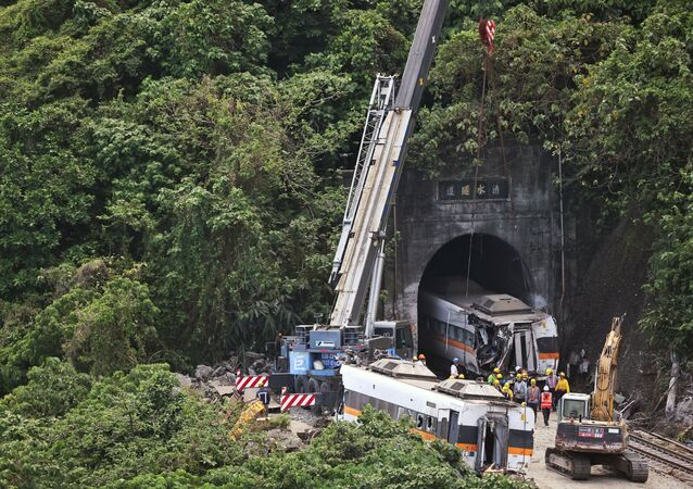 Tayvan - tren kazası