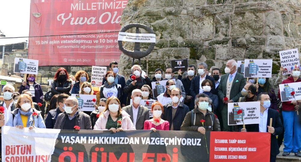"""Yaşam Hakkımızdan Vazgeçmiyoruz, Ölümleri Durdurun""""  protestosu"""