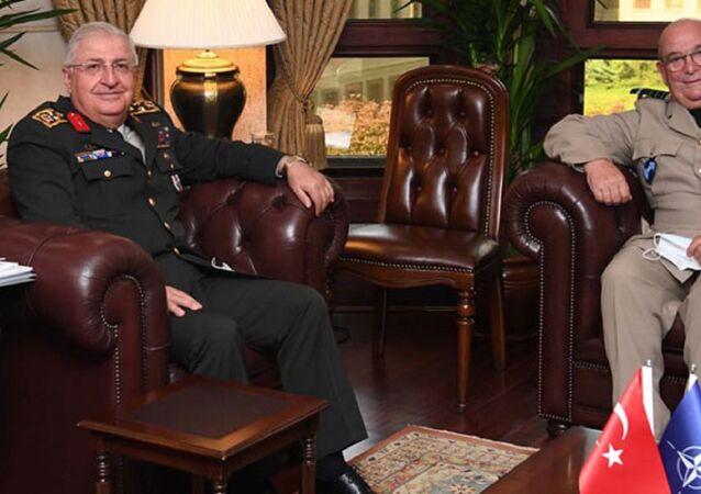 Genelkurmay Başkanı Orgeneral Yaşar Güler, NATO Askeri Komite Başkanı Orgeneral Stuart Peach