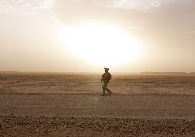 Afganistan'da bir Gürcistan askeri