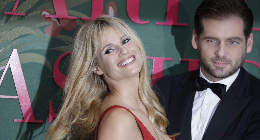Michelle Hunziker ile eşi Tomaso Trussardi