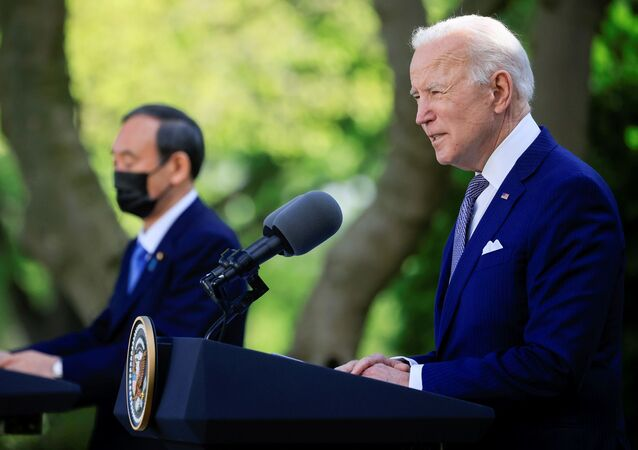 ABD Başkanı Biden, 20 Ocak 2021'de göreve başladıktan sonra ilk yüz yüze görüşmesini, Beyaz Saray'da Japonya Başbakanı Suga Yoşihide ile gerçekleştirdi.