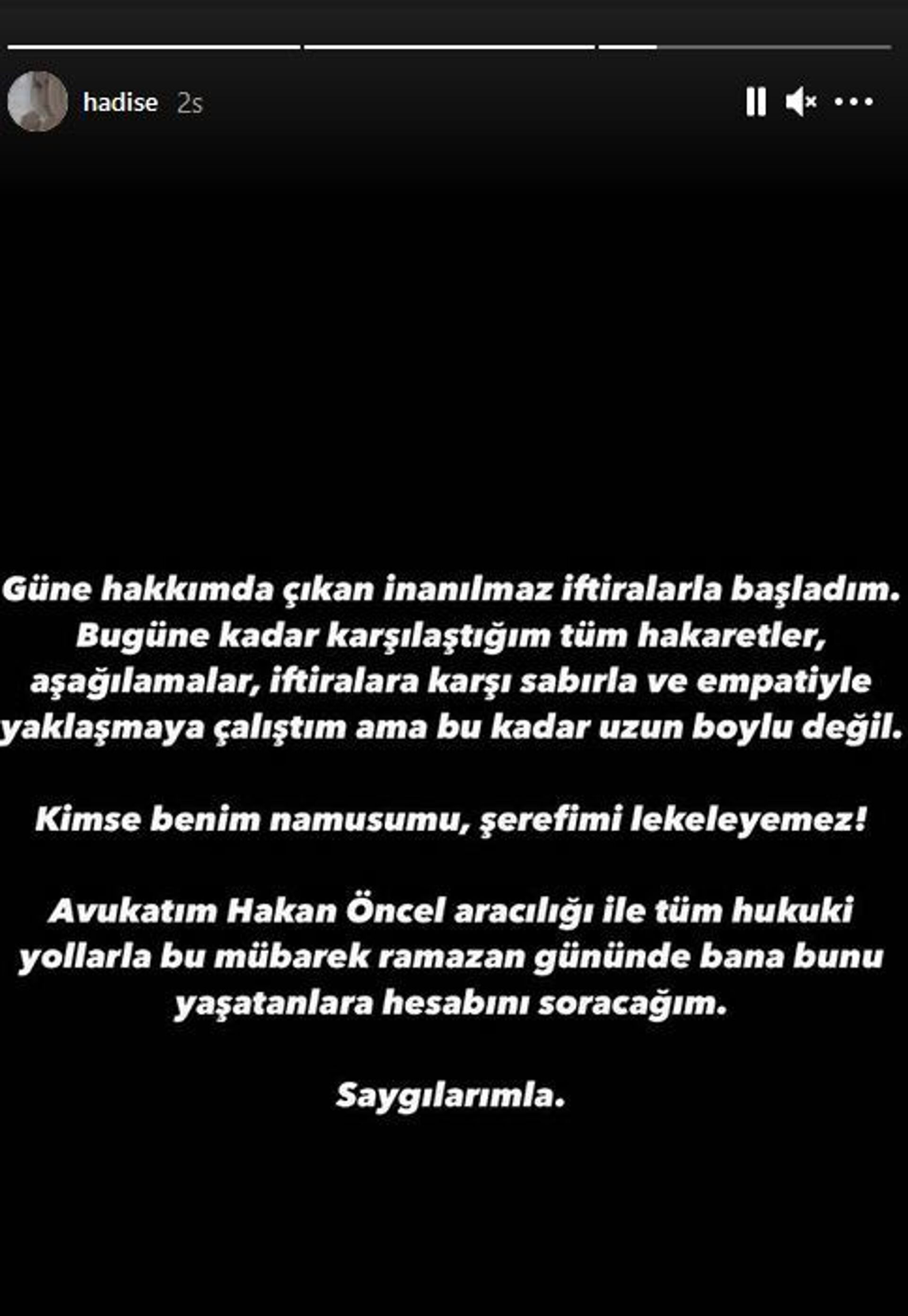 Hadise: Hesabını soracağım, kimse benim namusumu lekeleyemez - Sputnik Türkiye, 1920, 17.04.2021