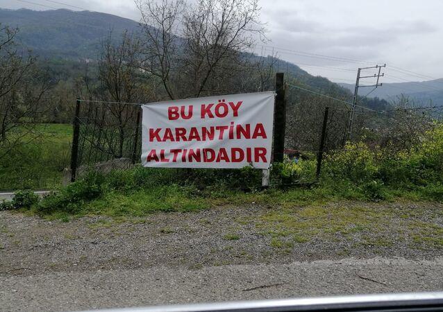 Köy karantina, karantina yazısı, Kastamonu köy,