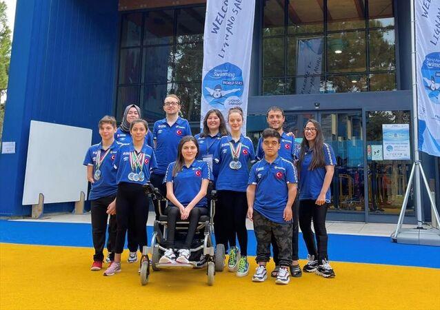 Paralimpik Yüzme Türk Milli Takımı, İtalya'da 14 madalya kazandı