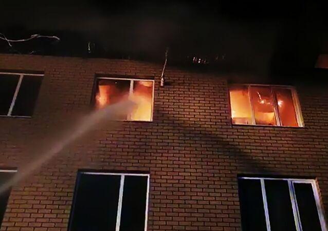Rusya'nın Nijniy Novgorod bölgesinde bir binada yaşanan doğalgaz patlaması nedeniyle 3 kişinin yaralandığı bildirildi.