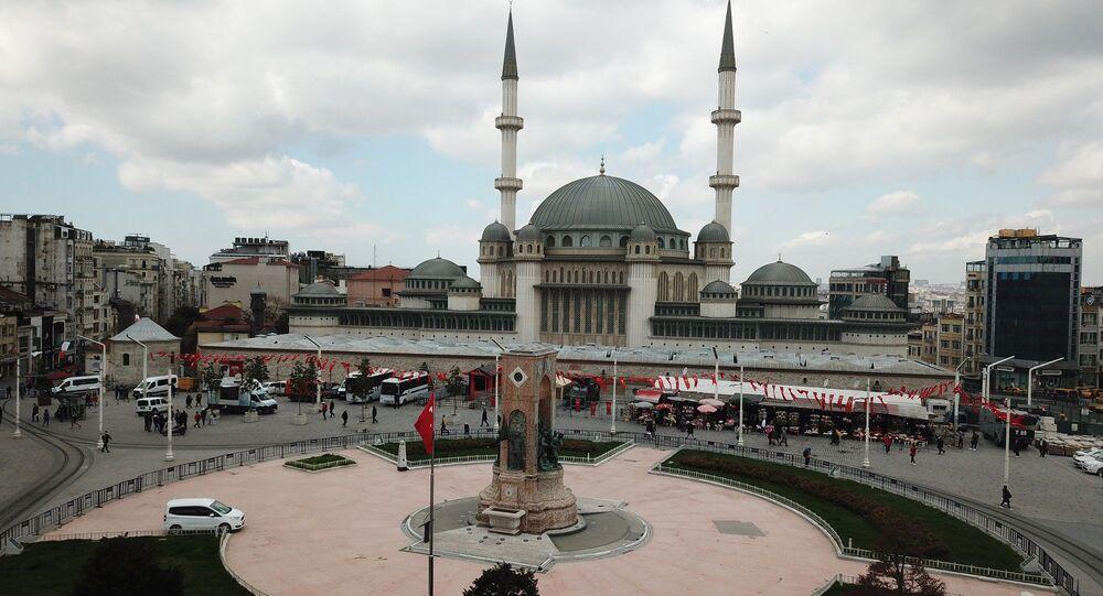 Taksim'de yapımı devam eden cami