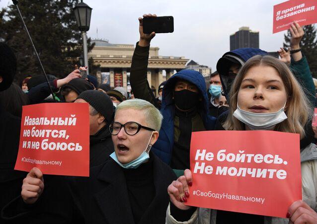 Rusya genelinde Navalnıy için izinsiz protestolar düzenlendi