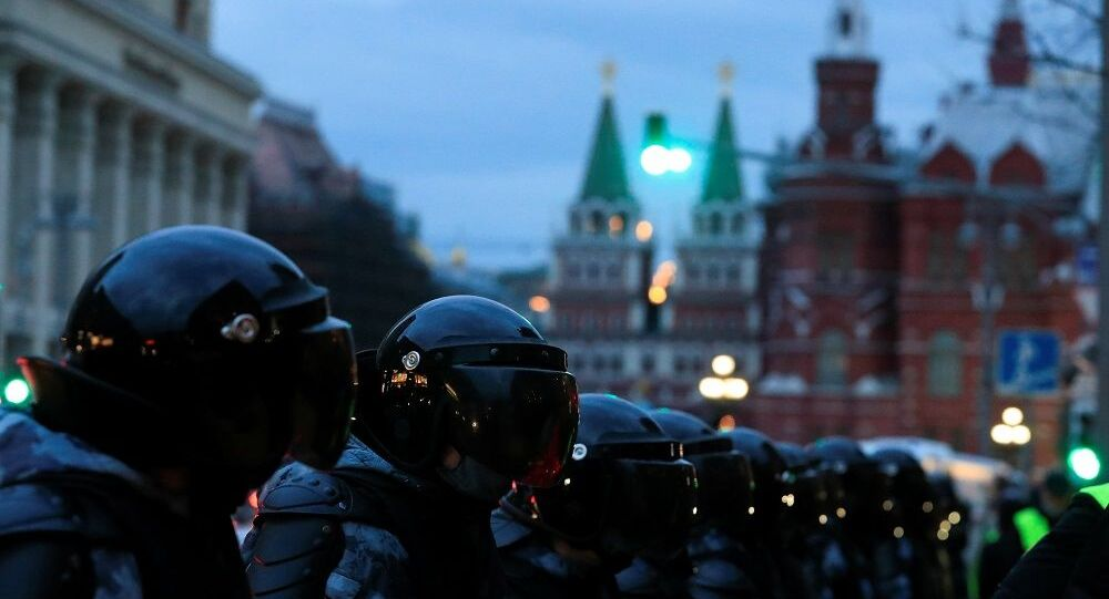 Moskova gösteri, Rusya polis,