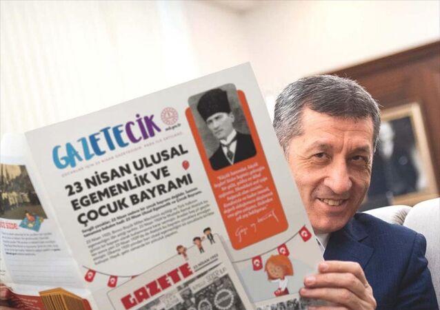 Milli Eğitim Bakanlığı'nca (MEB) 23 Nisan Ulusal Egemenlik ve Çocuk Bayramı dolayısıyla hazırlanan Gazetecik