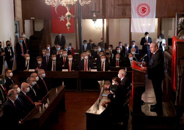 Birinci Meclis, 23 Nisan tören, TBMM Başkanı Mustafa Şentop