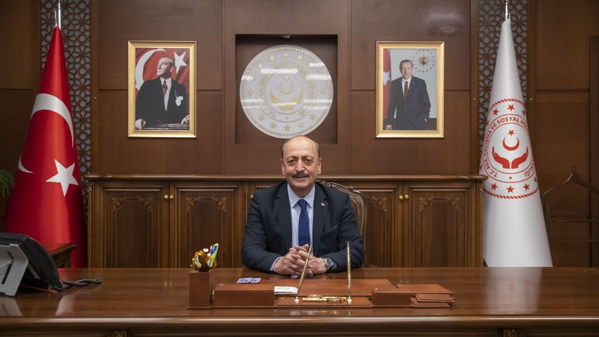 Çalışma ve Sosyal Güvenlik Bakanı Vedat Bilgin - Sputnik Türkiye, 1920, 23.04.2021
