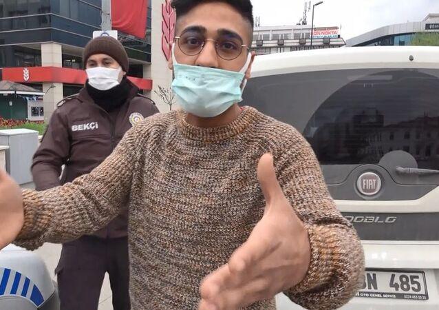 Turist ve çifte vatandaş olduğunu iddia eden Karabulut'a sokağa çıkma yasağını ihlalden ceza kesildi