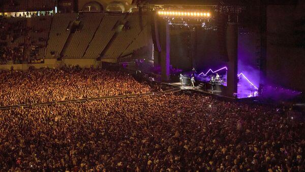 Normale dönen Yeni Zelanda'da 50 bin kişilik konser - Sputnik Türkiye
