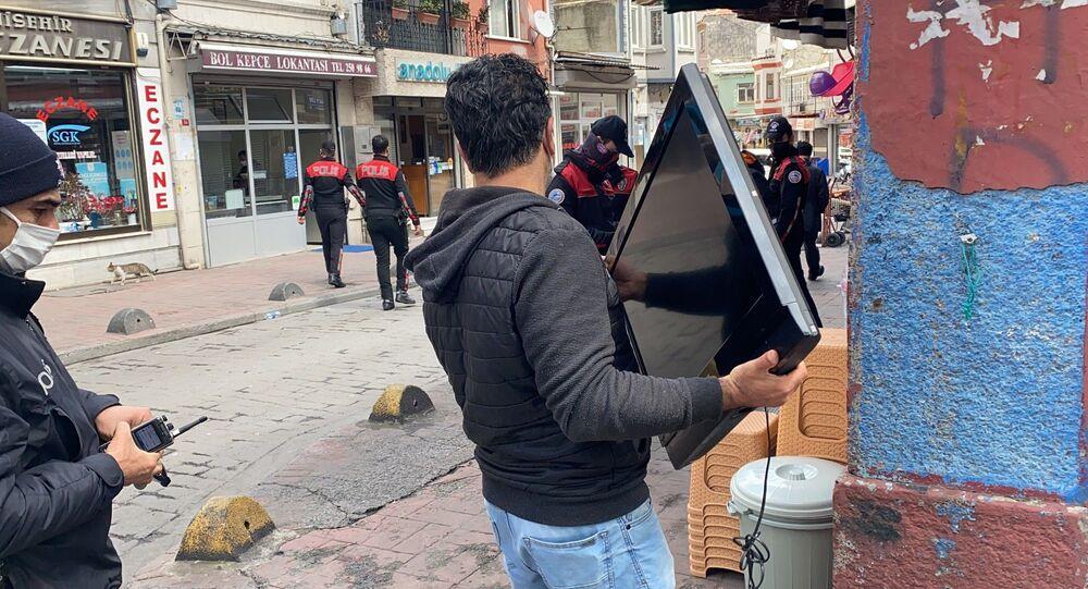 çalıntı televizyonla yakalanan kişi