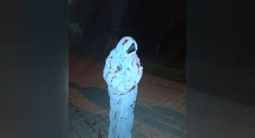 Beyaz çarşaf giyerek davulcuyu korkutan gençler, Zonguldak